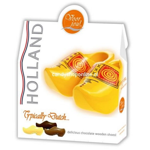 Voor Jou Chocolade Typically Dutch Wooden Shoes 100gr.