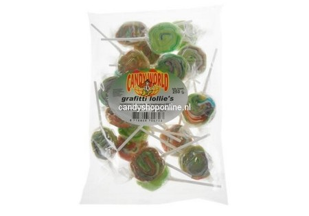 Crest Graffiti Lollies 225 gram ±17 stuks