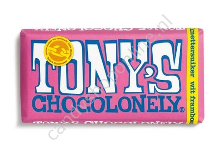Tony Chocolonely Wit Framboos Knettersuiker