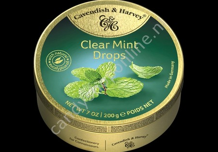 Cavendish & Harvey Clear Mint Drops with natural Eucalyptus oil