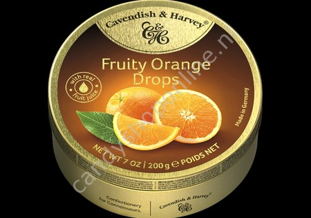 Cavendish & Harvey Fruity Orange Drops with real Fruit Juice