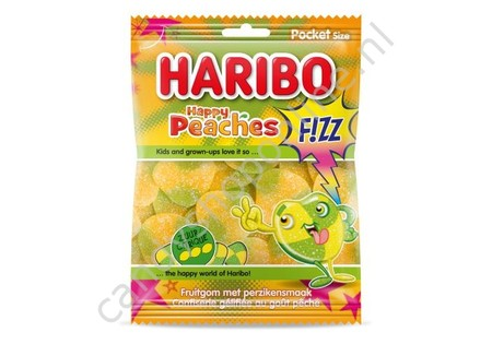 Haribo Happy Peaches Fizz 70 gram