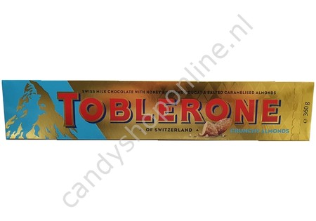 Toblerone Honey/Crunchy Salted Almonds 360 gram