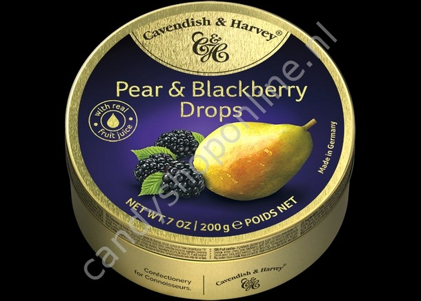 Cavendish & Harvey Pear & Blackberry Drops with real Fruit Juice 200gr.