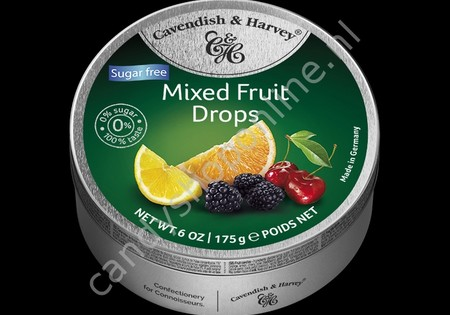Cavendish & Harvey Mixed Fruit Drops with real Fruit Juice 175gr. SV