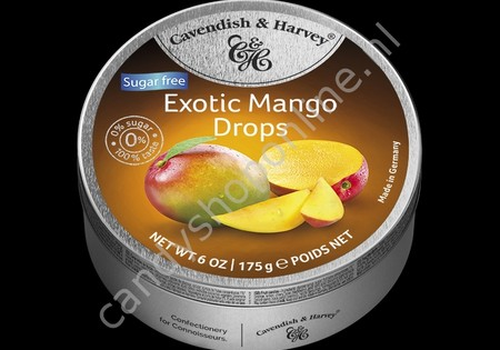 Cavendish & Harvey Exotic Mango Drops with real Fruit Juice 175gr. SV