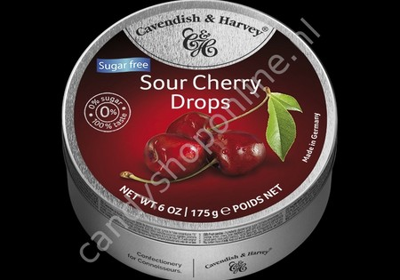 Cavendish & Harvey Sour Cherry Drops with real Fruit Juice 175gr. SV