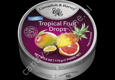 Cavendish & Harvey Tropical Fruit Drops with real Fruit Juice 175gr. SV