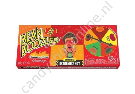 Orginele Jelly Belly's Bean Boozled Flaming Five Spinner 100gr.